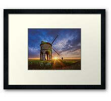 The Photographer And The Windmill Framed Print
