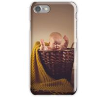 Baby in a basket iPhone Case/Skin