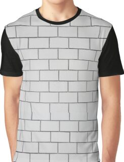 white pattern - brick wall texture  Graphic T-Shirt