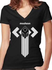 MADEON ADVENTURE TOWER Women's Fitted V-Neck T-Shirt