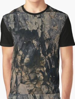 Abstract stone pattern - stone texture design - gold, black Graphic T-Shirt