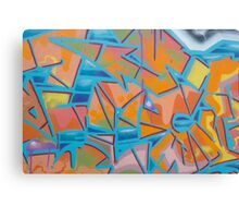 graffiti / street art background Canvas Print
