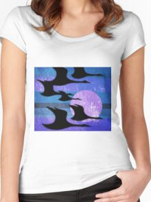 Midnight Migration Women's Fitted Scoop T-Shirt