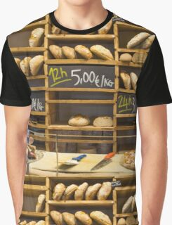 Modern bakery with different kinds of bread Graphic T-Shirt