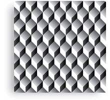 geometric 3d cube pattern - grey Canvas Print