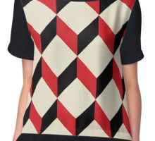 geometric 3d cube pattern  Chiffon Top