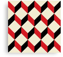geometric 3d cube pattern  Canvas Print