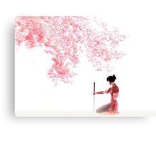 Samurai Girl Landscape Canvas Print