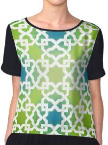 Geometric Pattern - Oriental Design  Chiffon Top