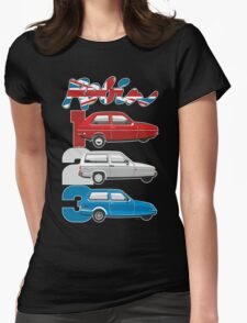 Reliant Robin evolution Womens Fitted T-Shirt