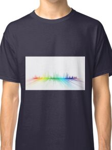 city skyline color spectrum - abstract cityscape Classic T-Shirt