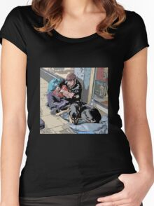 PLAYING FOR SOME DINNER Women's Fitted Scoop T-Shirt
