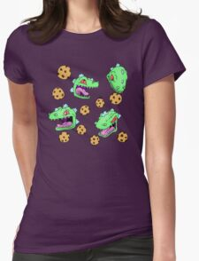 Cookie Dinosaur Womens Fitted T-Shirt
