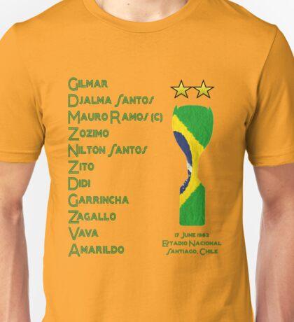 Brazil 1962 World Cup Final Winners Unisex T-Shirt