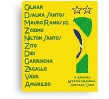 Brazil 1962 World Cup Final Winners Canvas Print