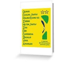 Brazil 1962 World Cup Final Winners Greeting Card
