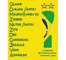 Brazil 1962 World Cup Final Winners Photographic Print