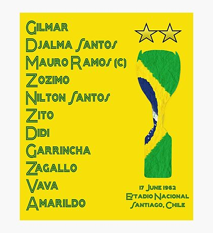 Brazil 1962 World Cup Final Winners Photographic Print
