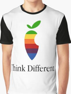 "Apple Parody Zootopia Carrot ""Think Different"" Logo Graphic T-Shirt"