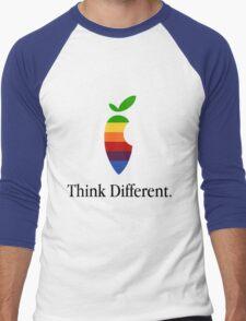 "Apple Parody Zootopia Carrot ""Think Different"" Logo Men's Baseball ¾ T-Shirt"