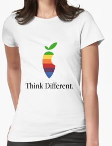 """Apple Parody Zootopia Carrot """"Think Different"""" Logo Womens Fitted T-Shirt"""