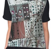 analog synthesizer illustration - music equipment Chiffon Top