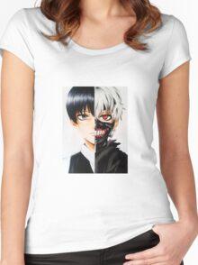 Ken Kaneki!!!! Women's Fitted Scoop T-Shirt