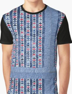 Flying Geese Quilt In Red, White And Blue Graphic T-Shirt