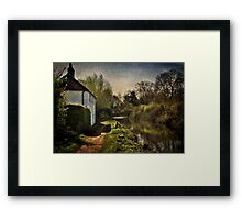Cottage By The Kennet And Avon Canal Framed Print