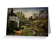 Cottage By The Kennet And Avon Canal Greeting Card