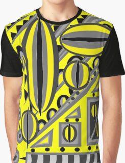 Ediemagic Yellow Grey Fusion Graphic T-Shirt