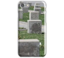 tombstones unknown soldiers at the military cemetery iPhone Case/Skin