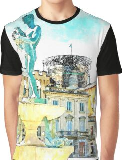 L'Aquila: square with fountain Graphic T-Shirt