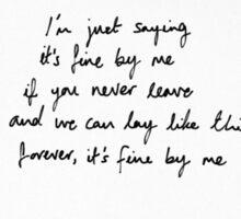 Andy Grammer- Fine By Me Lyrics Sticker