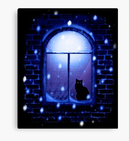Home Cat Home Canvas Print