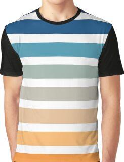 Beach- Sand, Ocean, Sunset sky Color Theme Graphic T-Shirt