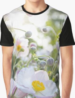 Anemone - pink / white flowers in sunlight  Graphic T-Shirt