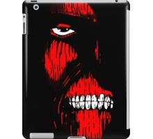 Red Face Titan iPad Case/Skin