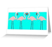 Flamingo pink Greeting Card