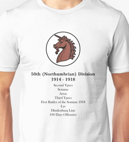 50th (Northumbrian) Division Unisex T-Shirt