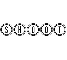 Shoot (Black) Photographic Print