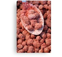 Caramelized peanuts Canvas Print