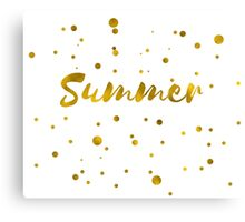 Summer in gold texture Canvas Print
