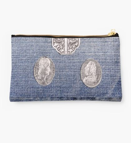Denim with Coins Studio Pouch