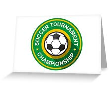 Creative soccer tournament label Greeting Card