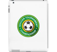 Creative soccer tournament label iPad Case/Skin