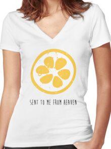 Lemon Heaven Women's Fitted V-Neck T-Shirt
