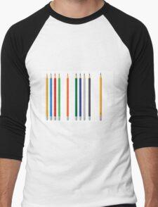 Pencils color set Men's Baseball ¾ T-Shirt