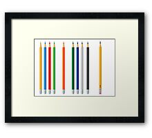 Pencils color set Framed Print