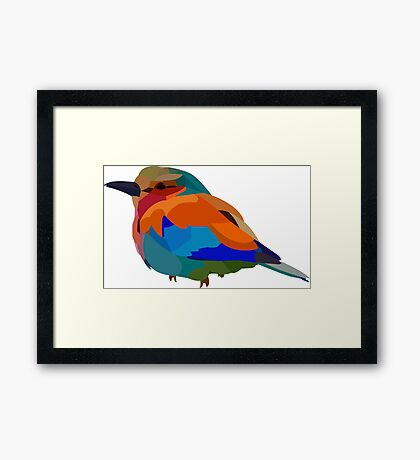 Tiny Colorful Bird Framed Print